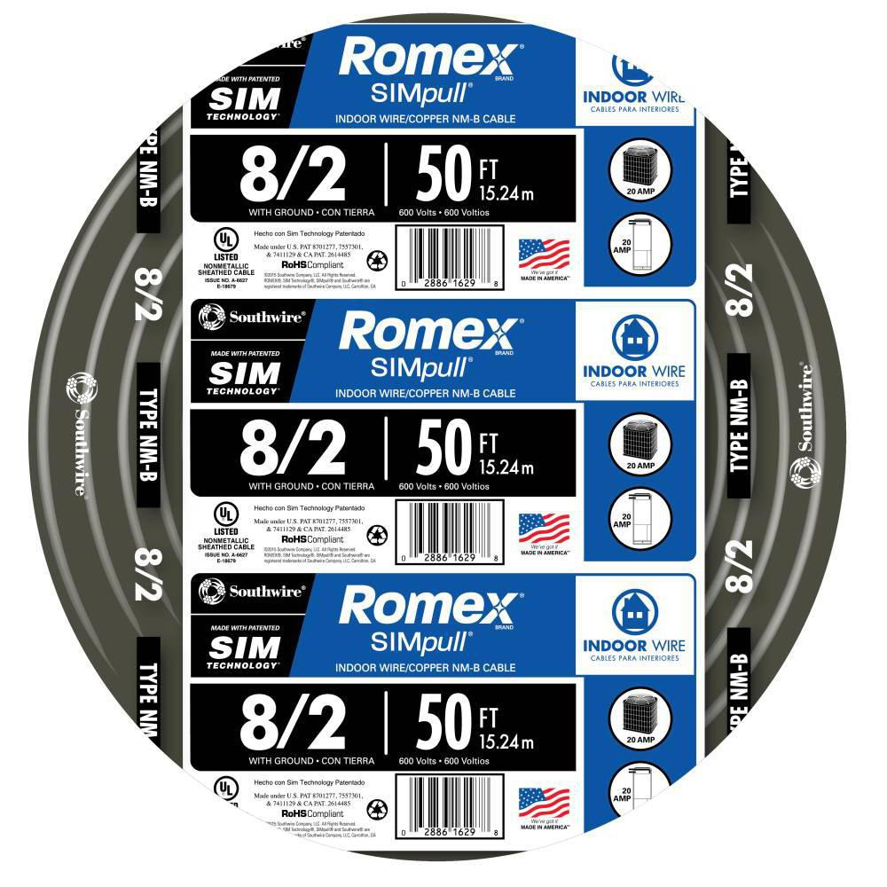 medium resolution of 8 2 stranded romex simpull cu nm b w g wire