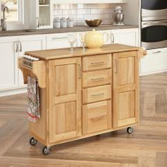 Cart For Kitchen Moen Chateau Faucet Carts Islands Utility Tables The Home Depot Natural With Storage