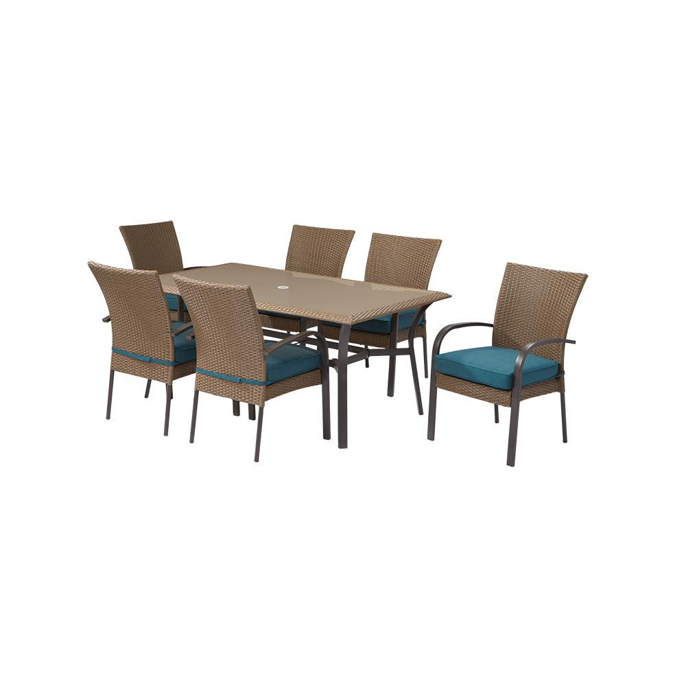 Hampton Bay Corranade 7Piece Wicker Outdoor Dining Set