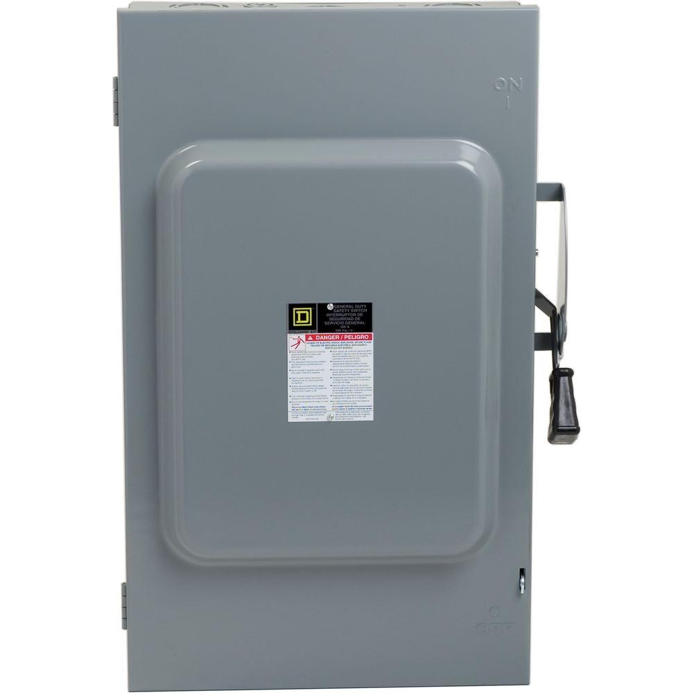 medium resolution of square d 200 amp 240 volt 3 pole 3 phase fused indoor general duty 250 amp fuse disconnect box
