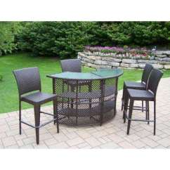 Outdoor Bar Table And Chairs Antique Office Chair Patio Sets Furniture The Home Depot Elite