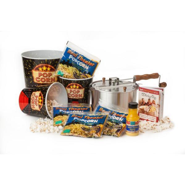Whirley Pop 10-piece Aluminum Popcorn Popper Set-38211 - Home Depot