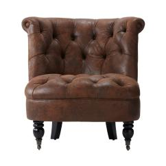 Brown Accent Chairs Desk Chair Hurts Back Home Decorators Collection Flanders Faux Suede