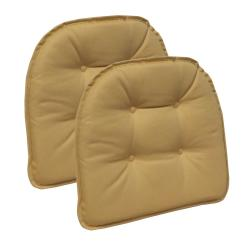 Tufted Yellow Chair Modern Leather Office Gripper Non Slip 15 In X 16 Twill Cinder Toffee Cushions Set Of 2 41491 205ake The Home Depot
