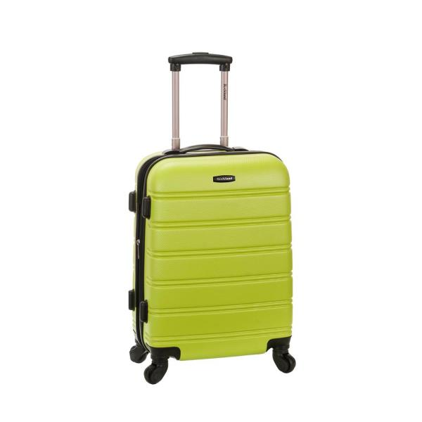 Rockland Melbourne 20 In. Expandable Carry Hardside Spinner Luggage Lime-f145-lime