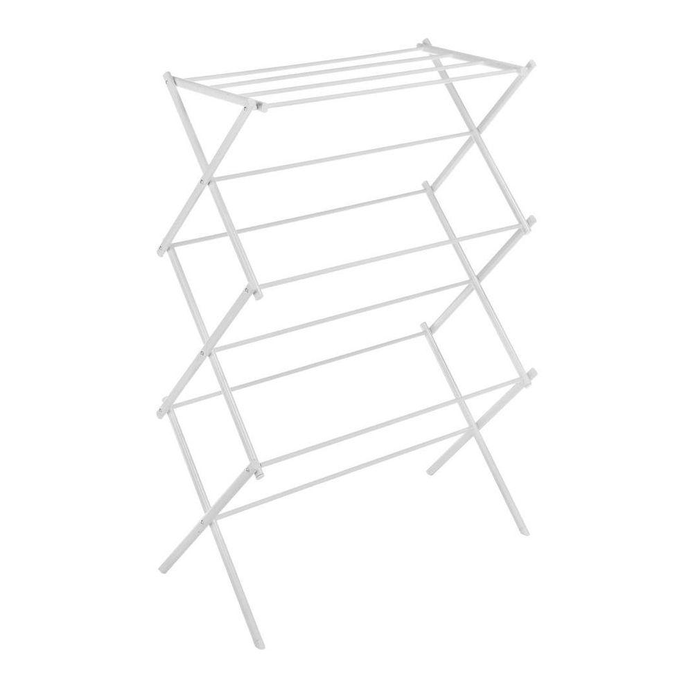 Whitmor White Wire Collection 29.5 in. x 41.75 in. Folding