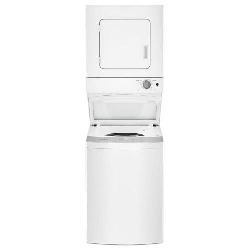 small resolution of whirlpool 1 6 cu ft stacked washer and electric dryer with 6 wash cycles and