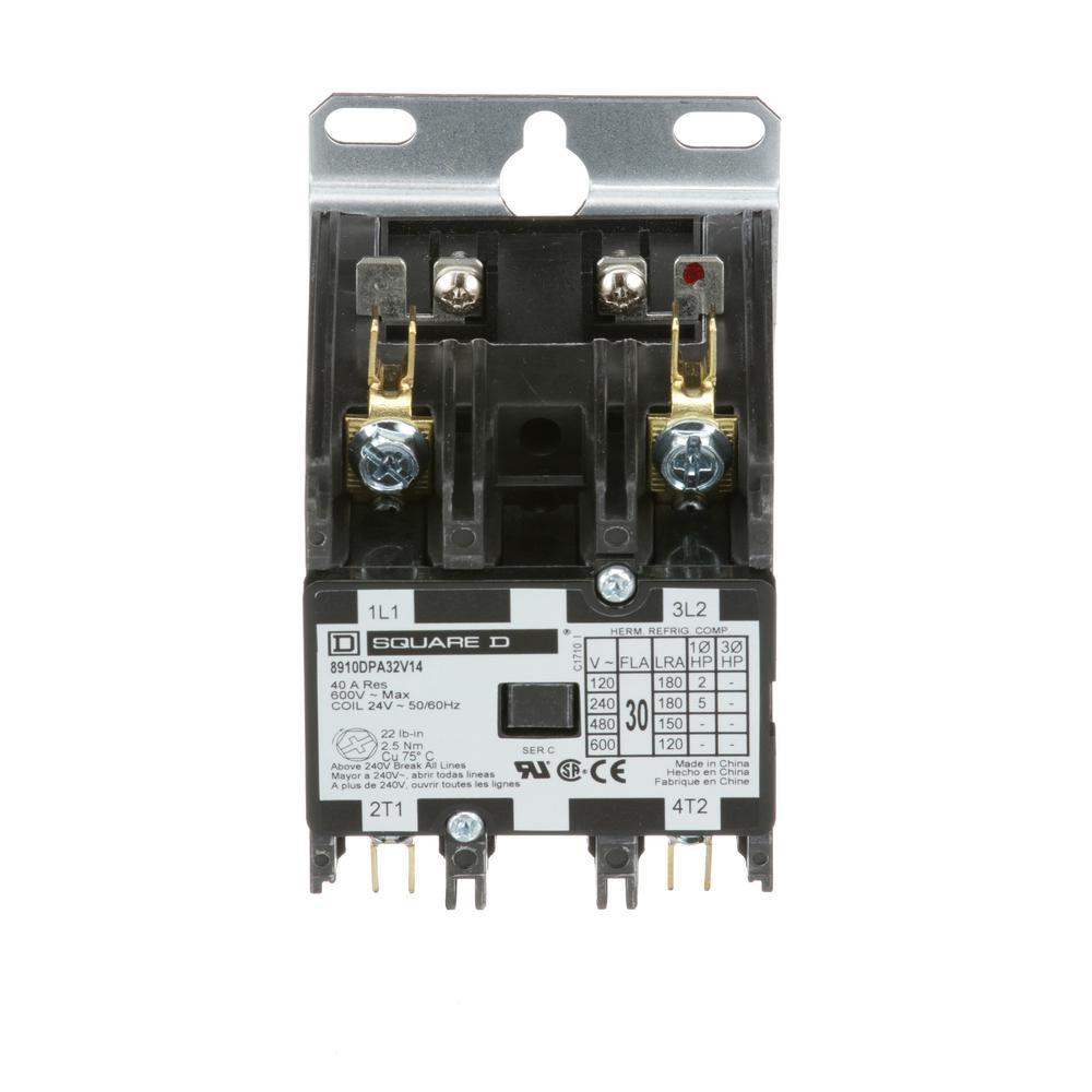 medium resolution of 30 amp 24 volt ac 2 pole open definite purpose contactor 20 pack