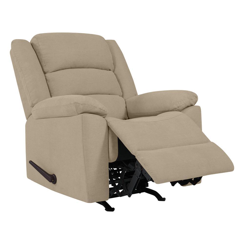 rocker and recliner chair tri fold beach prolounger in barley tan plush low pile velvet