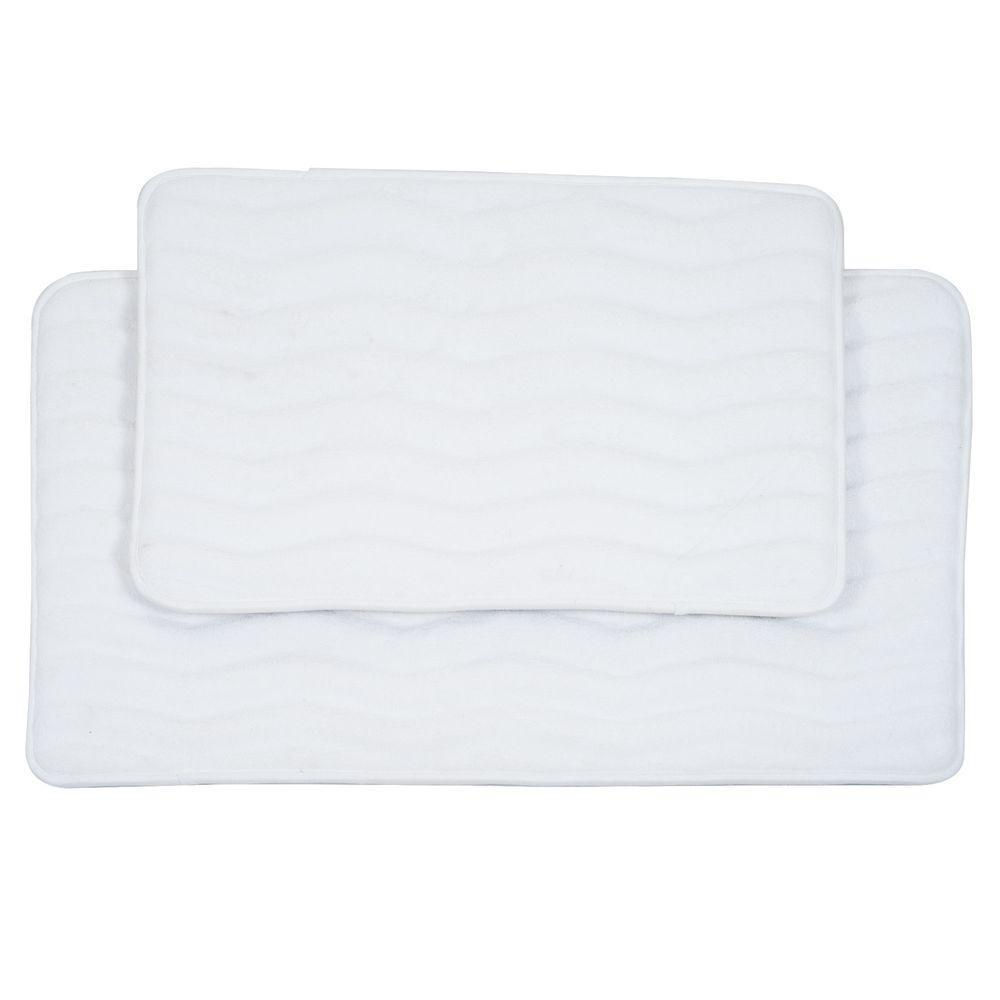 kitchen memory foam mat menards design lavish home 2-piece white bath set-67-10-w ...