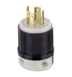 leviton 30 amp 125 250 volt locking grounding plug black white [ 1000 x 1000 Pixel ]