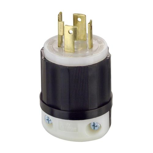 small resolution of leviton 30 amp 125 250 volt locking grounding plug black white