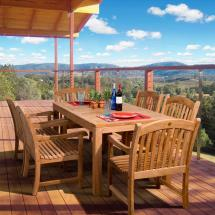 Oslo 7-piece Teak Patio Dining Set-sc