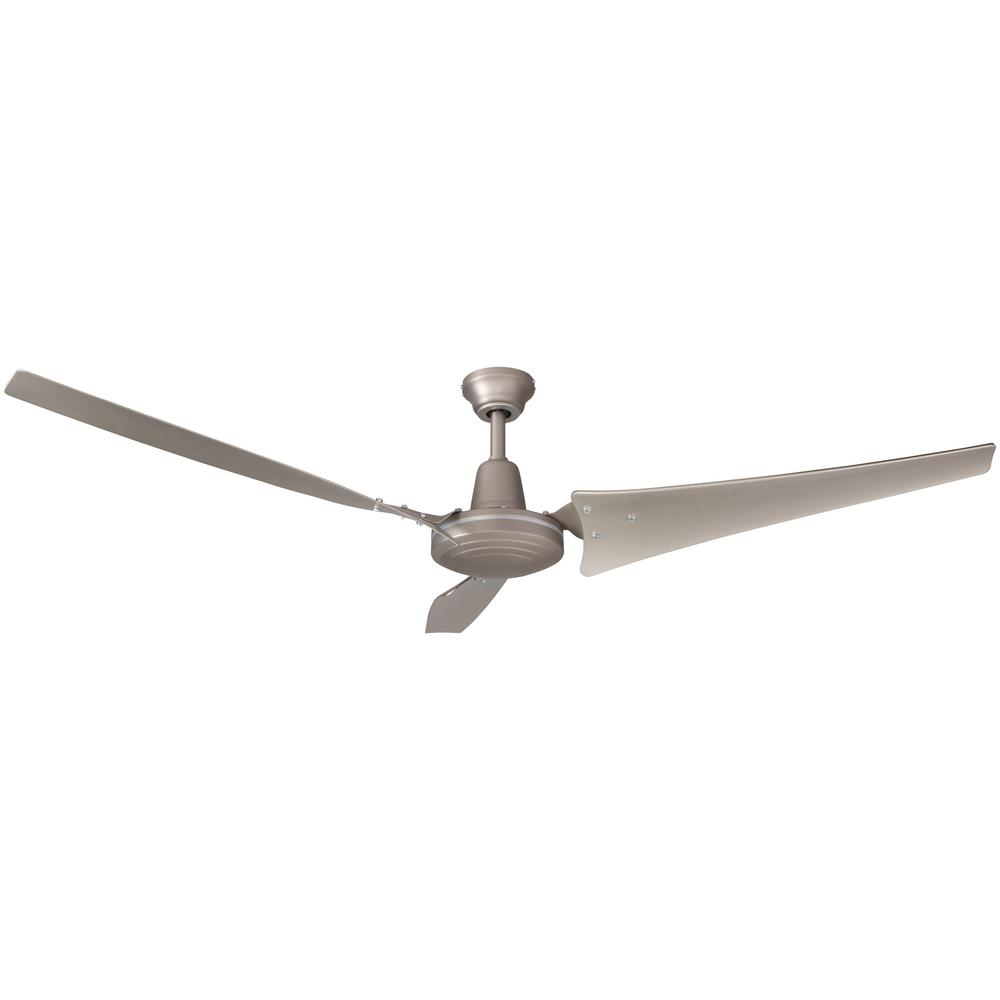 medium resolution of hampton bay industrial 60 in indoor brushed steel ceiling fan with wall control