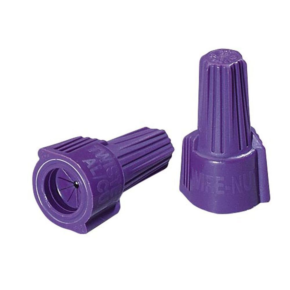 medium resolution of ideal twister al cu wire connectors purple 10 pack