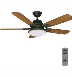led indoor oil rubbed bronze ceiling fan on hunter fan  [ 1000 x 1000 Pixel ]