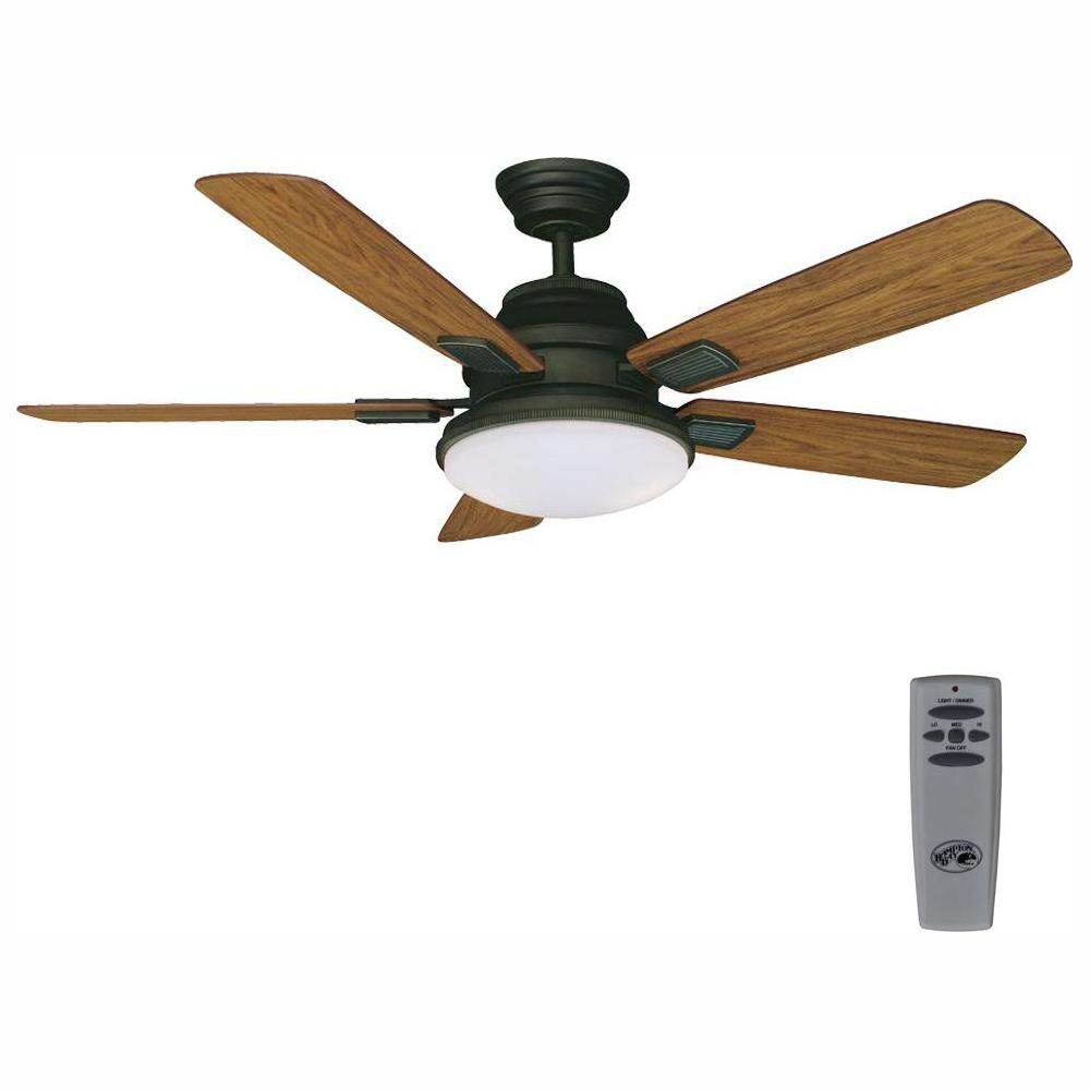 hight resolution of led indoor oil rubbed bronze ceiling fan on hunter fan