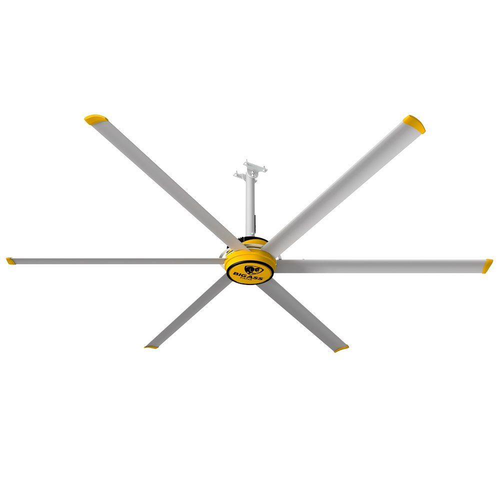 Big Ass Fans 3025 10 ft. Indoor Yellow and Silver Aluminum