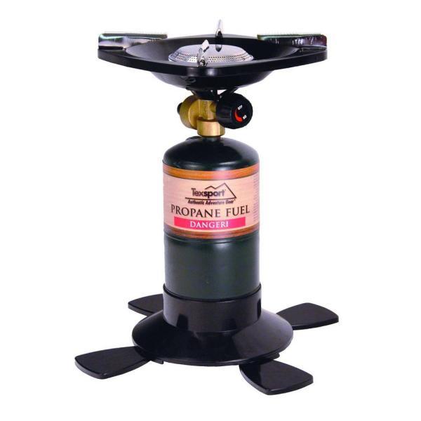 Texsport Single Burner Propane Stove 16.4 Oz. 14.1 Oz.-14213 - Home Depot