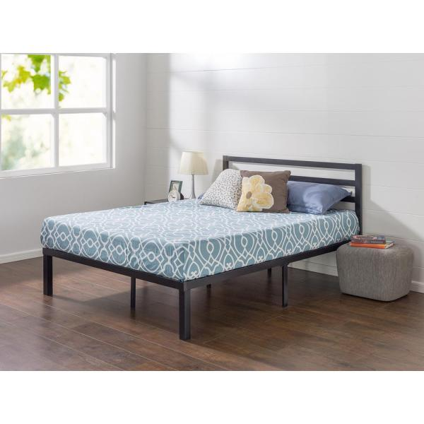 Zinus Quick Lock 14 In. King Metal Platform Bed Frame With Headboard-hd-qcmph-14k - Home Depot