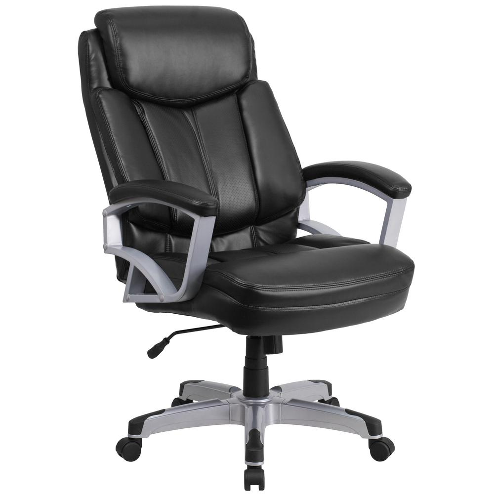 black leather desk chairs humanscale world chair carnegy avenue plastic office
