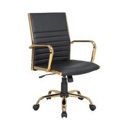 Office Chair Gold Aeron Gas Cylinder Replacement Lumisource Master With Black Faux Leather Adjustable