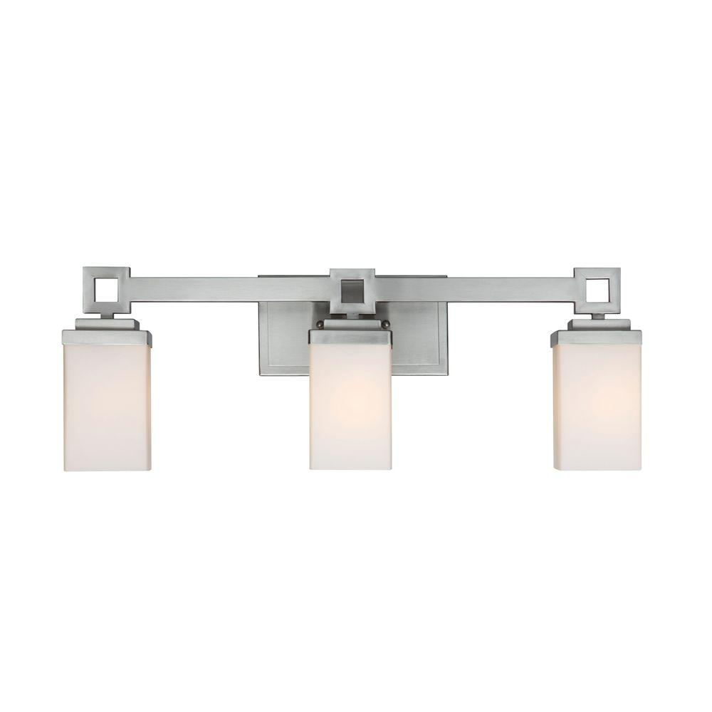 Golden Lighting Nelio Collection 3 Light Pewter Bath Vanity Light Ba3mppw The Home Depot