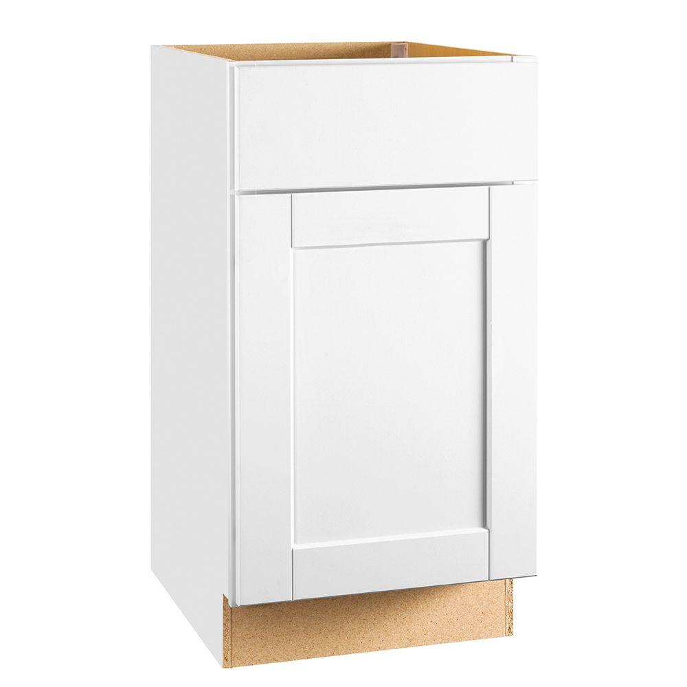 medium resolution of shaker assembled 18x34 5x24 in base kitchen cabinet with ball bearing drawer
