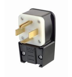 leviton 60 amp 125 250 volt straight blade grounding angle plug black  [ 1000 x 1000 Pixel ]