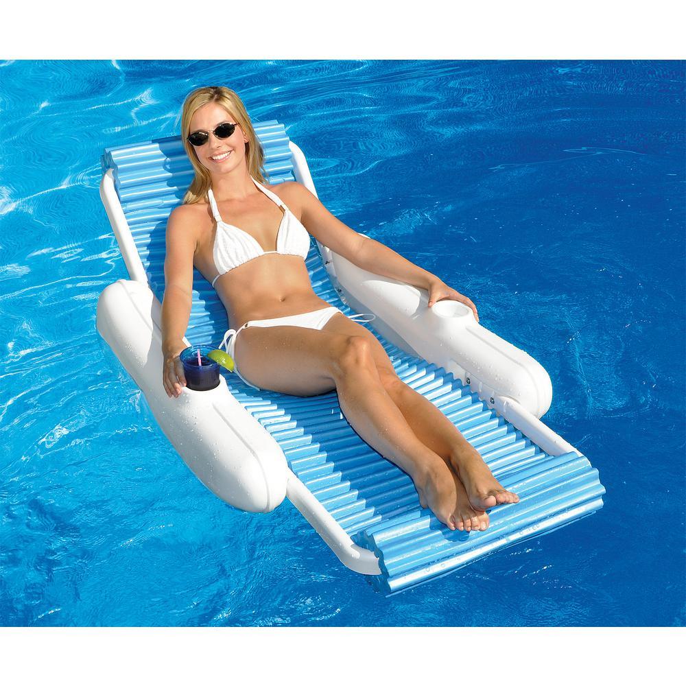 pool floating lounge chairs massaging office chair swimline eva sunchaser swimming 10030
