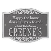 Emerson Quote Personalized Arched Plaque-2046ps - Home
