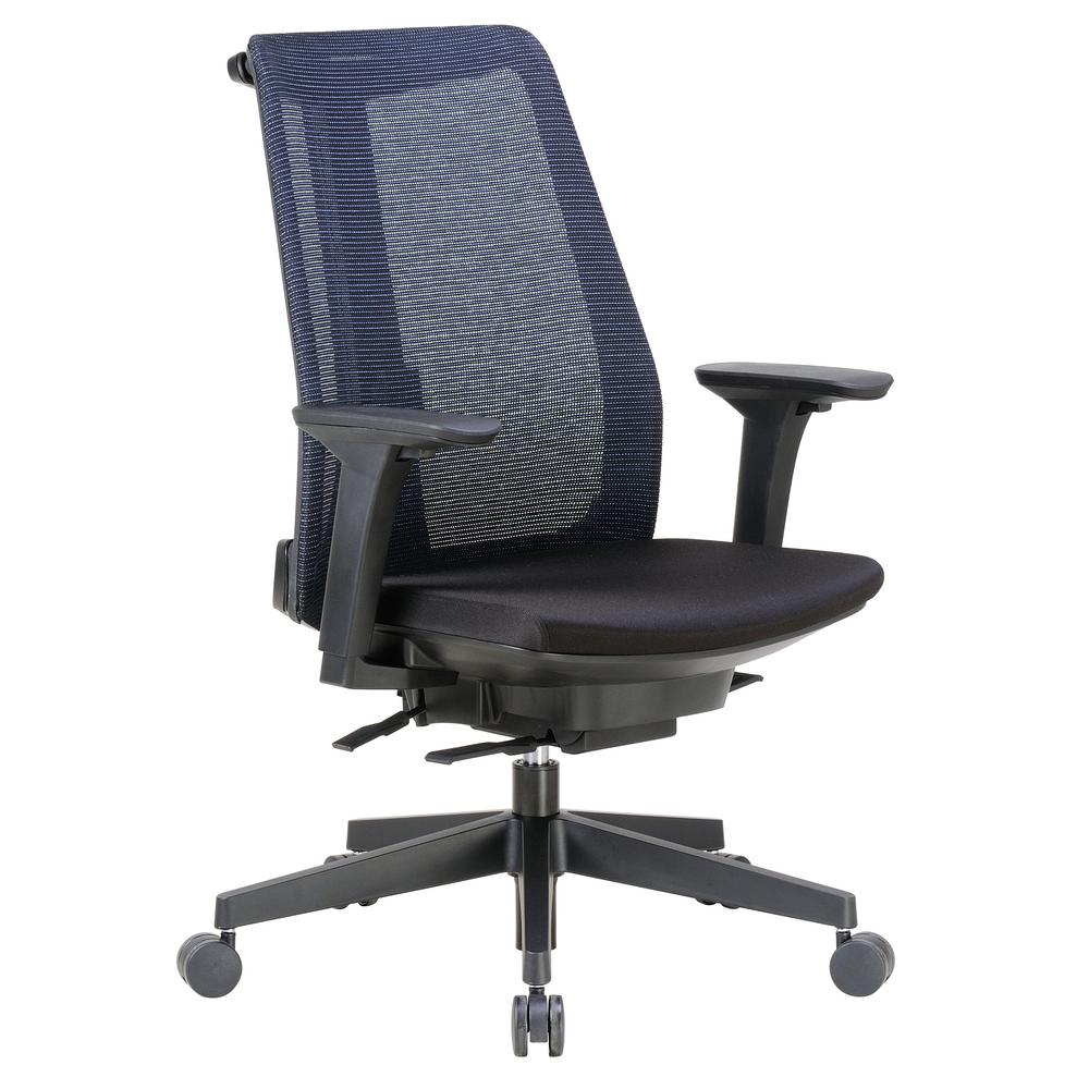 executive mesh office chair bedroom houzz boss black contemporary b6990 bk the home depot