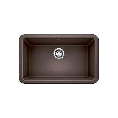 brown kitchen sink remodeling orange county cafe farmhouse apron sinks the ikon front granite composite 29 in single bowl