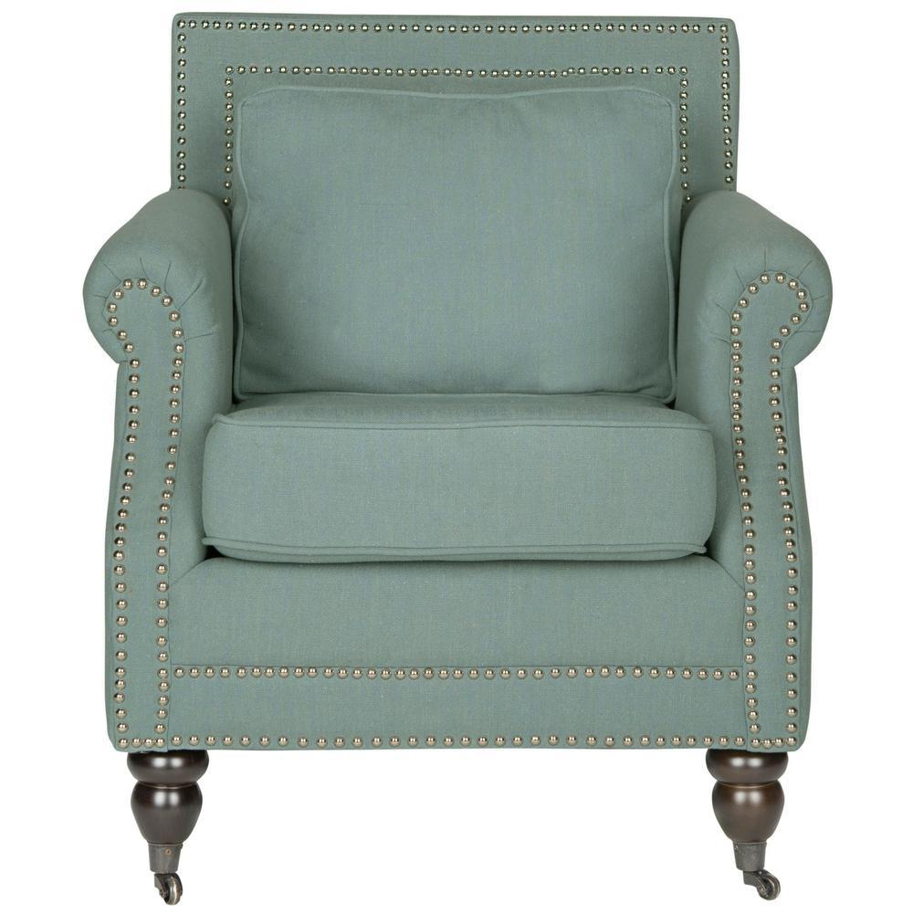 Safavieh Karsen Sky Blue Cotton Blend Club Arm Chair