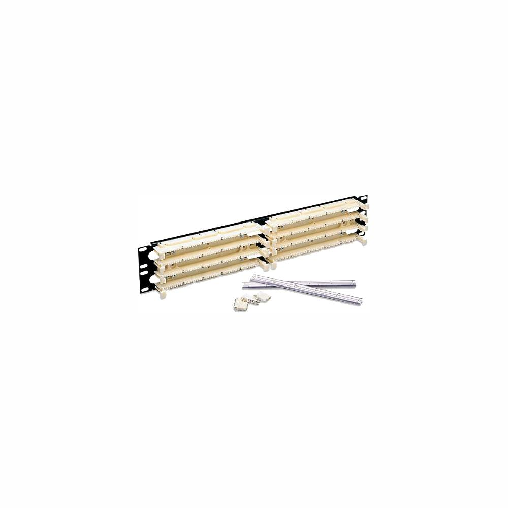 hight resolution of cat 5e 110 style wiring block kit rack mount 3ru with c 5 connector clips ivory 300 pair