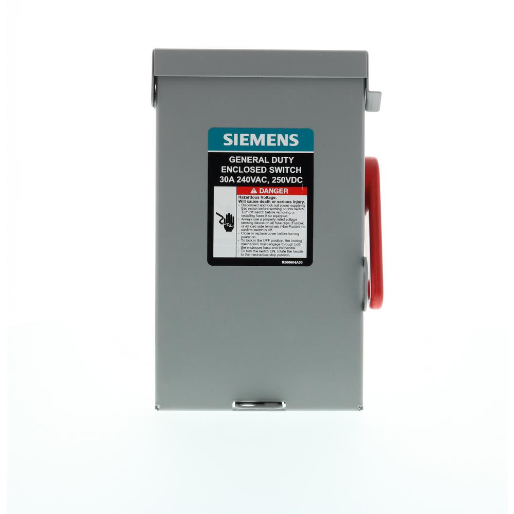 medium resolution of general duty 30 amp 3 pole 3 wire 240 volt non fusible indoor safety switch