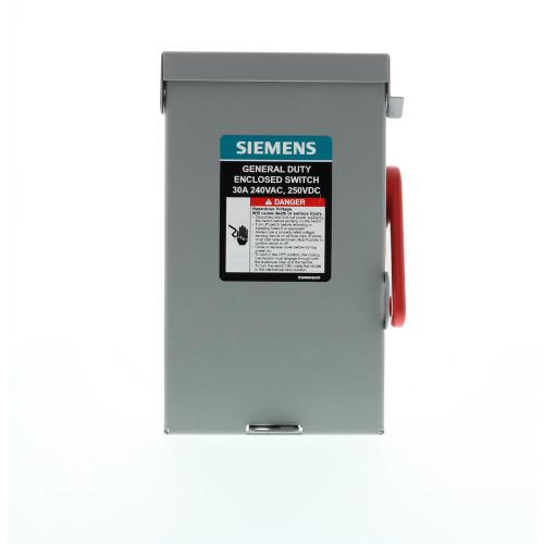 small resolution of general duty 30 amp 3 pole 3 wire 240 volt non fusible indoor safety switch