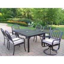 Oakland Living Rochester 7-piece Patio Dining Set With 2