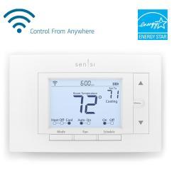 emerson sensi wi fi thermostat for smart home [ 1000 x 1000 Pixel ]