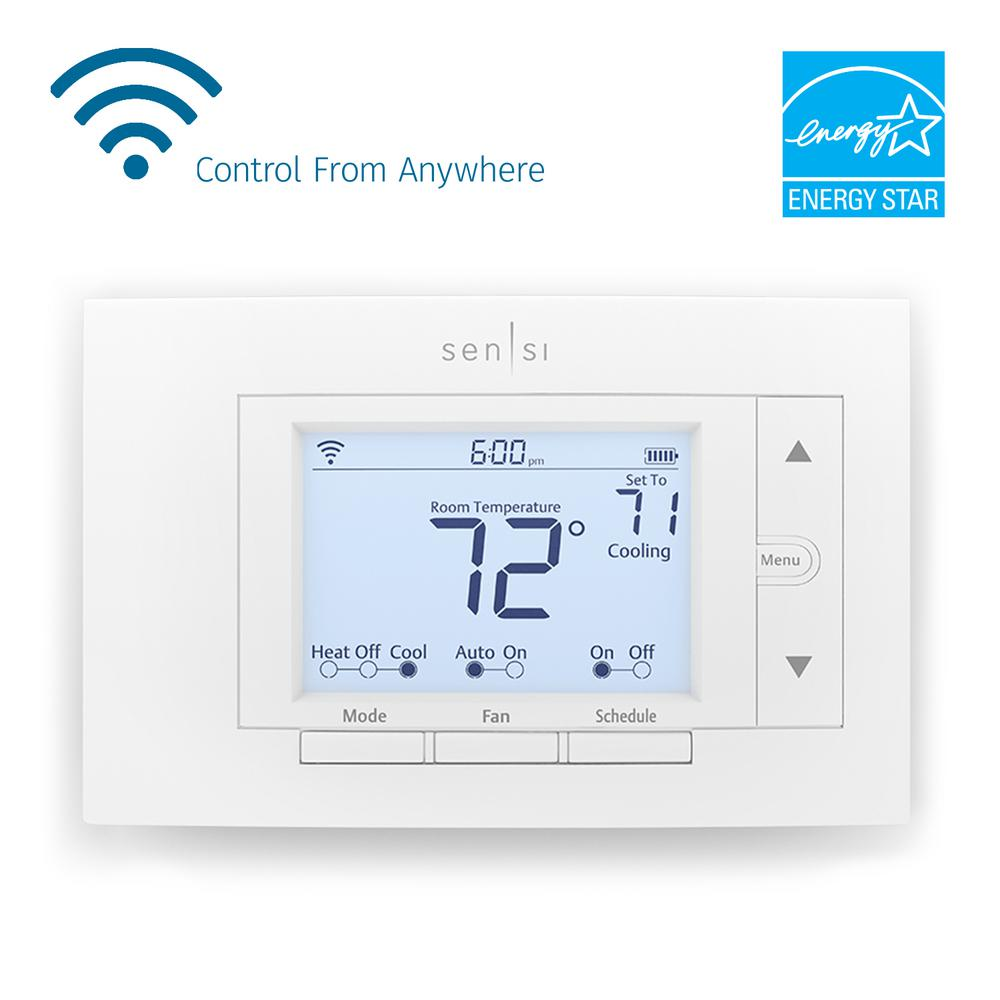 hight resolution of emerson sensi wi fi thermostat for smart home