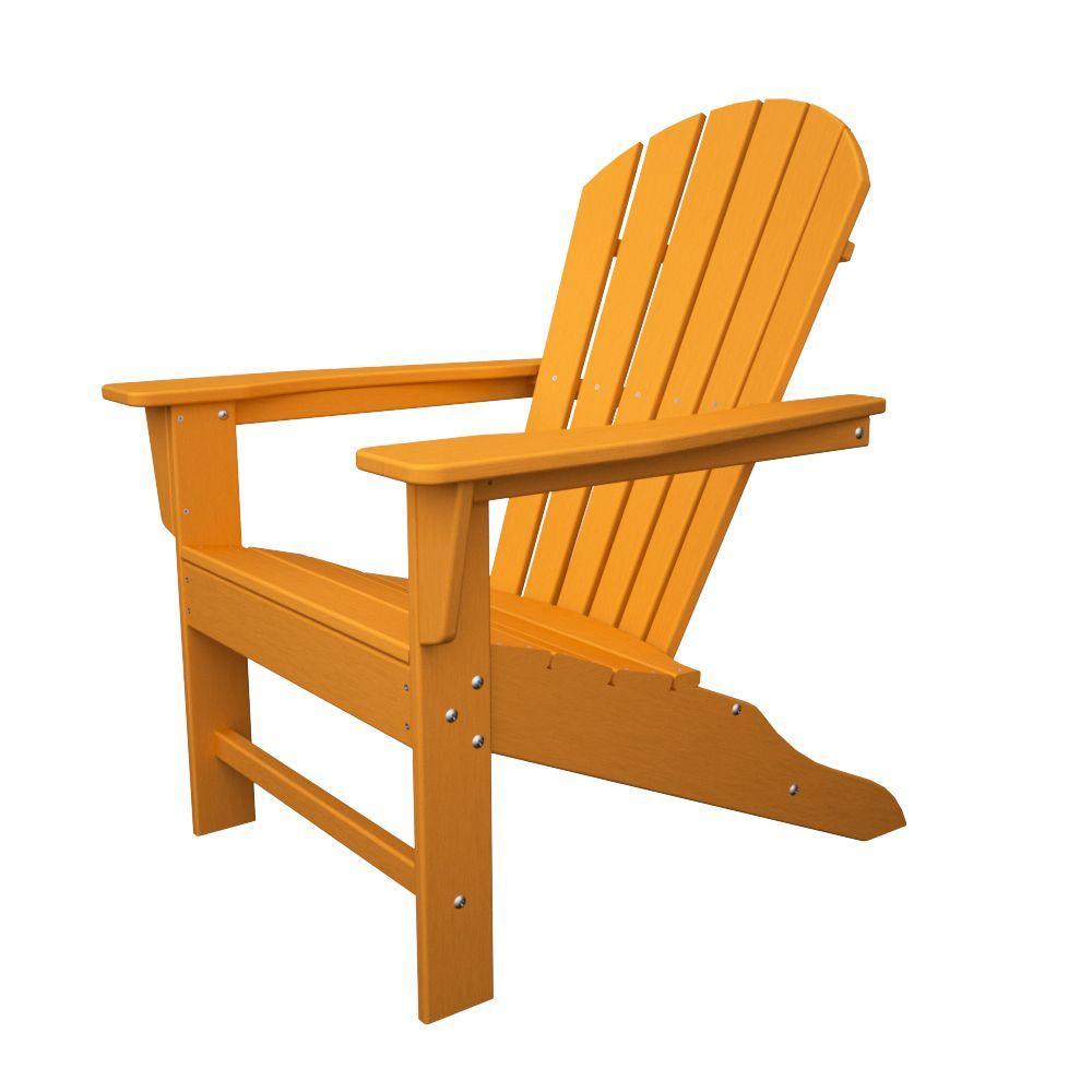 adirondack chairs portland oregon folding chair lounger polywood patio the home depot south beach tangerine plastic