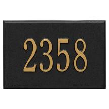 Whitehall Products Wall Mailbox Plaque In Black Gold