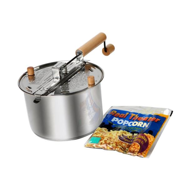 Whirley Pop Stainless Steel Popcorn Popper Set-24003ds - Home Depot