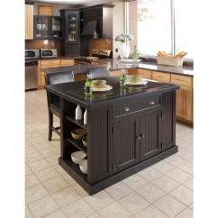 Kitchen Islan Cabinets Richmond Va Home Styles Nantucket Black Island With Granite Top 5033 94 The Depot