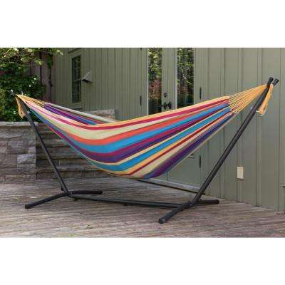 hammock chair frame diy shermag glider parts hammocks patio furniture the home depot double cotton with stand in tropical