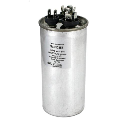 small resolution of packard 440 volt 35 5 mfd dual rated motor run round capacitor trcfd355 the home depot
