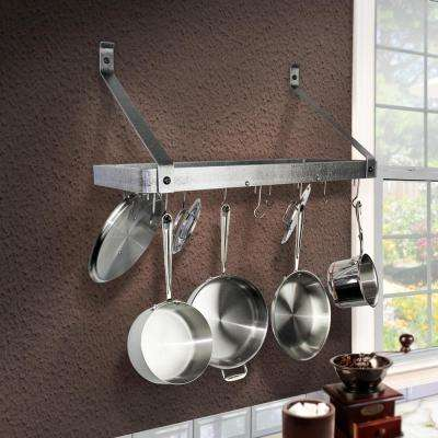pot racks for kitchen trash cans storage organization the home depot handcrafted