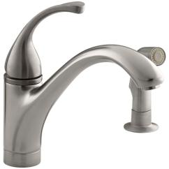 Kohler Kitchen Sink Faucets Retro Style Appliances Forte Single Handle Standard Faucet With Side Sprayer In Vibrant Stainless