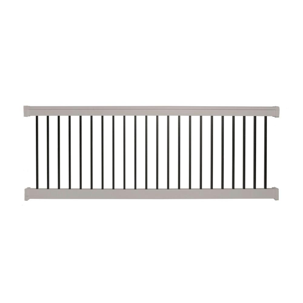 Weatherables Vilano 3 ft. H x 6 ft. W Vinyl Tan Railing
