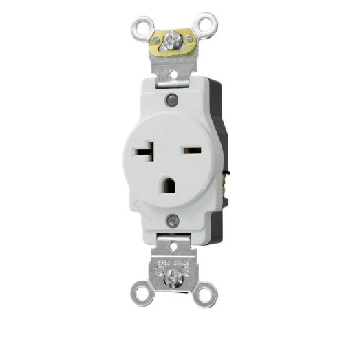 small resolution of leviton 20 amp industrial grade heavy duty self grounding single outlet white